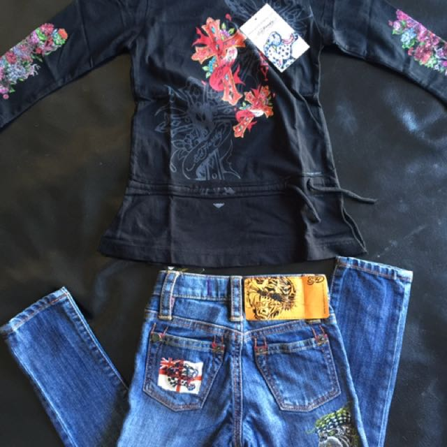 Ed Hardy Toddler Girls Clothes Fits Size 2