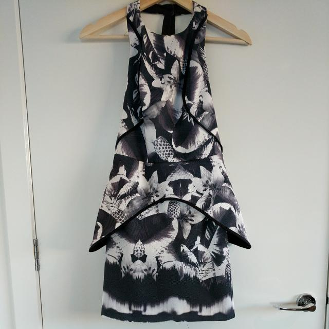 Finders Keepers Backless Floral Dress