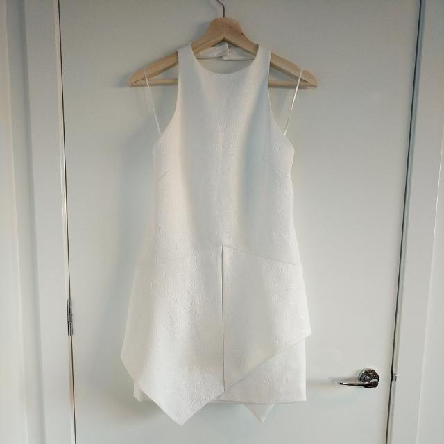 Finders Keepers NWT White Shift Dress Low Back