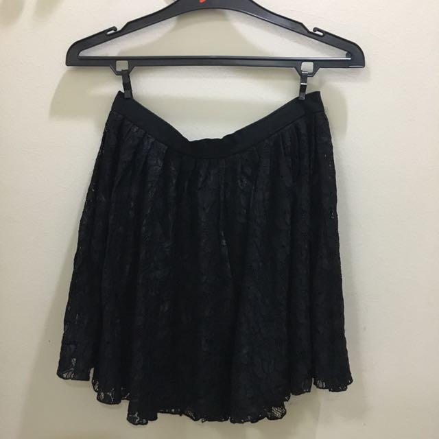Forever21 Lace Skirt - Black