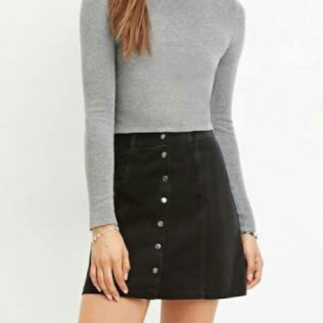 Forever 21 Button Front Skirt Size L