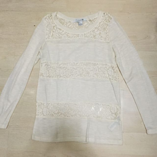 Forever 21 Lace Long Sleeves