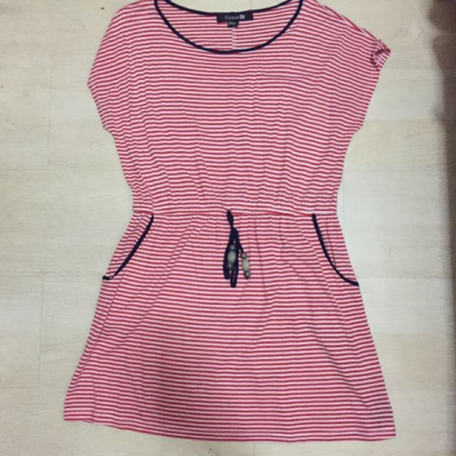 Forever 21 Red Striped Dress