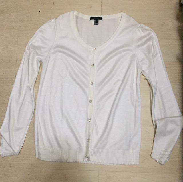 Forever 21 White Cardigan