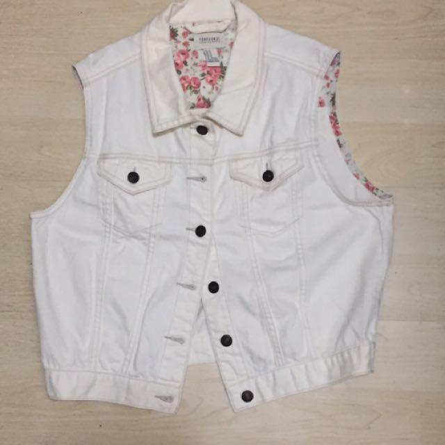 Forever 21 White Vest