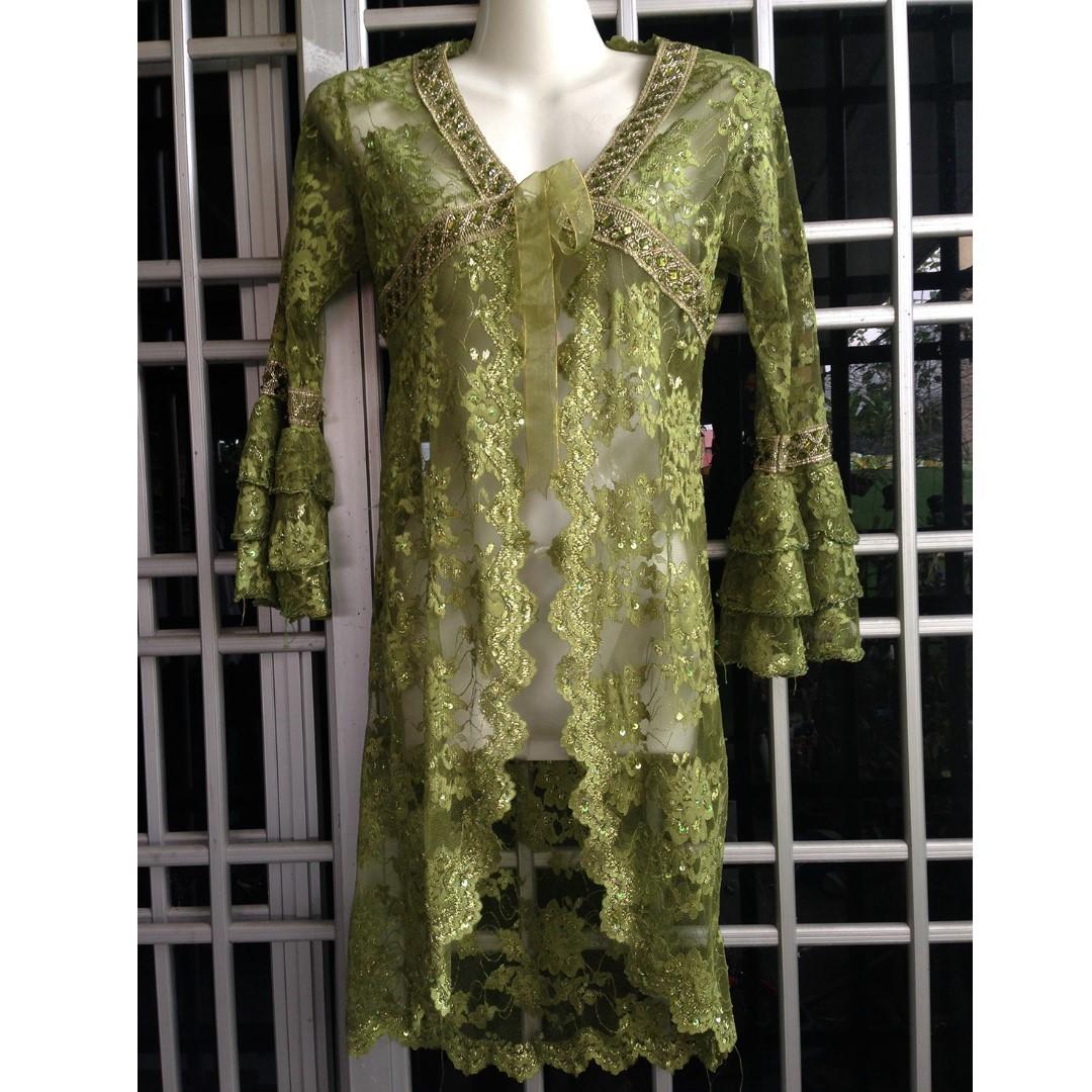 [FREEPOS] Kebaya Lace Green (cardigan)