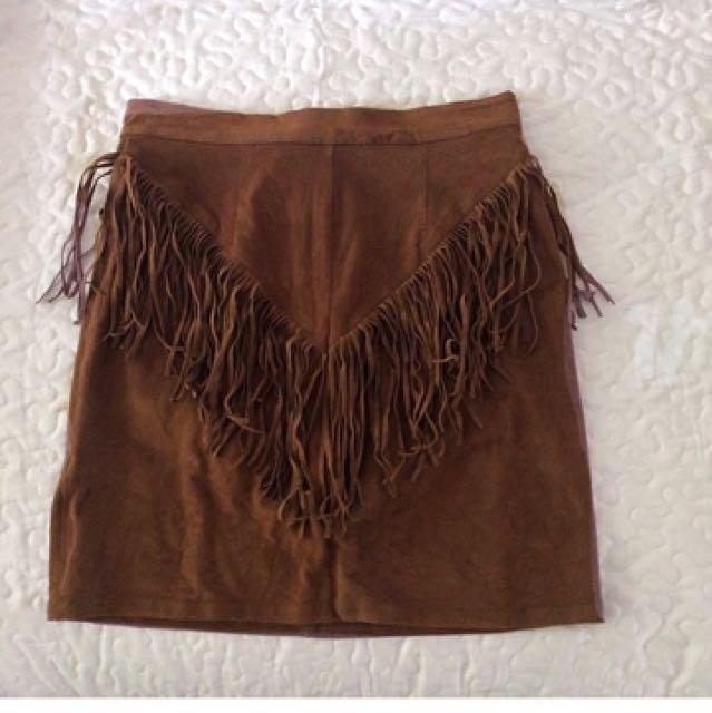 Frills High Waisted Skirt