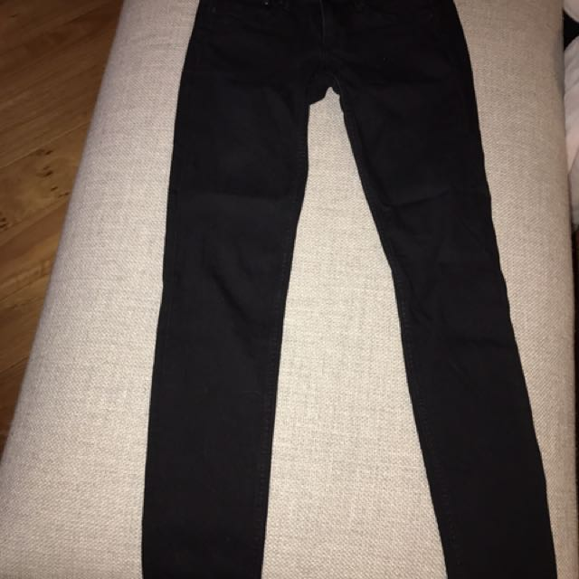 H & M Black Jeans Skinny Low Waist