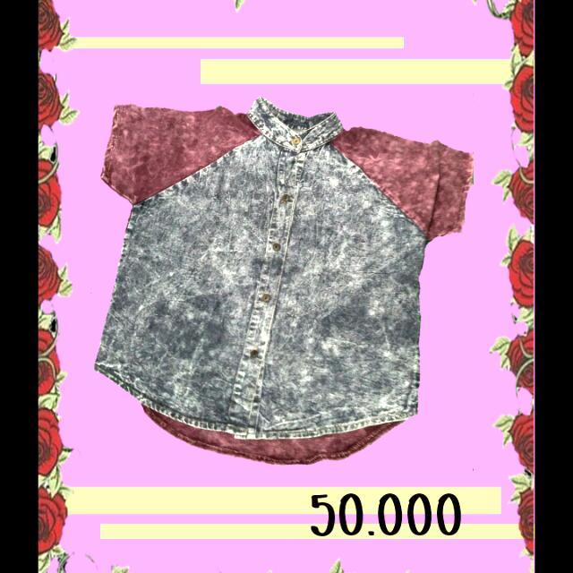Hem Purple Bludru Jeans Combi