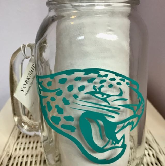 Jacksonville Jaguars Mason Jar Coin Bank