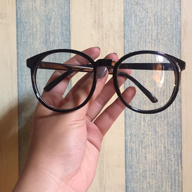 [NEW] Korean Geek Eyeglasses Black (Frame Bulat Korea)