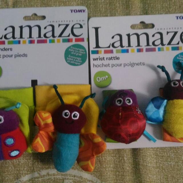 Lamaze Foot Finders and Wrist Rattle