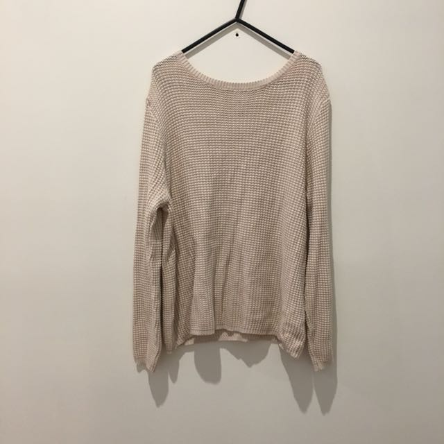 Large Cream Knit Jumper