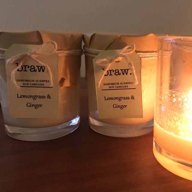 Lemongrass & Ginger Handmade Scented Soy Candle