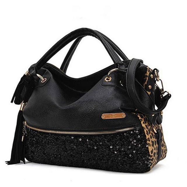 Leopard leather handbag - paypal, no pickup