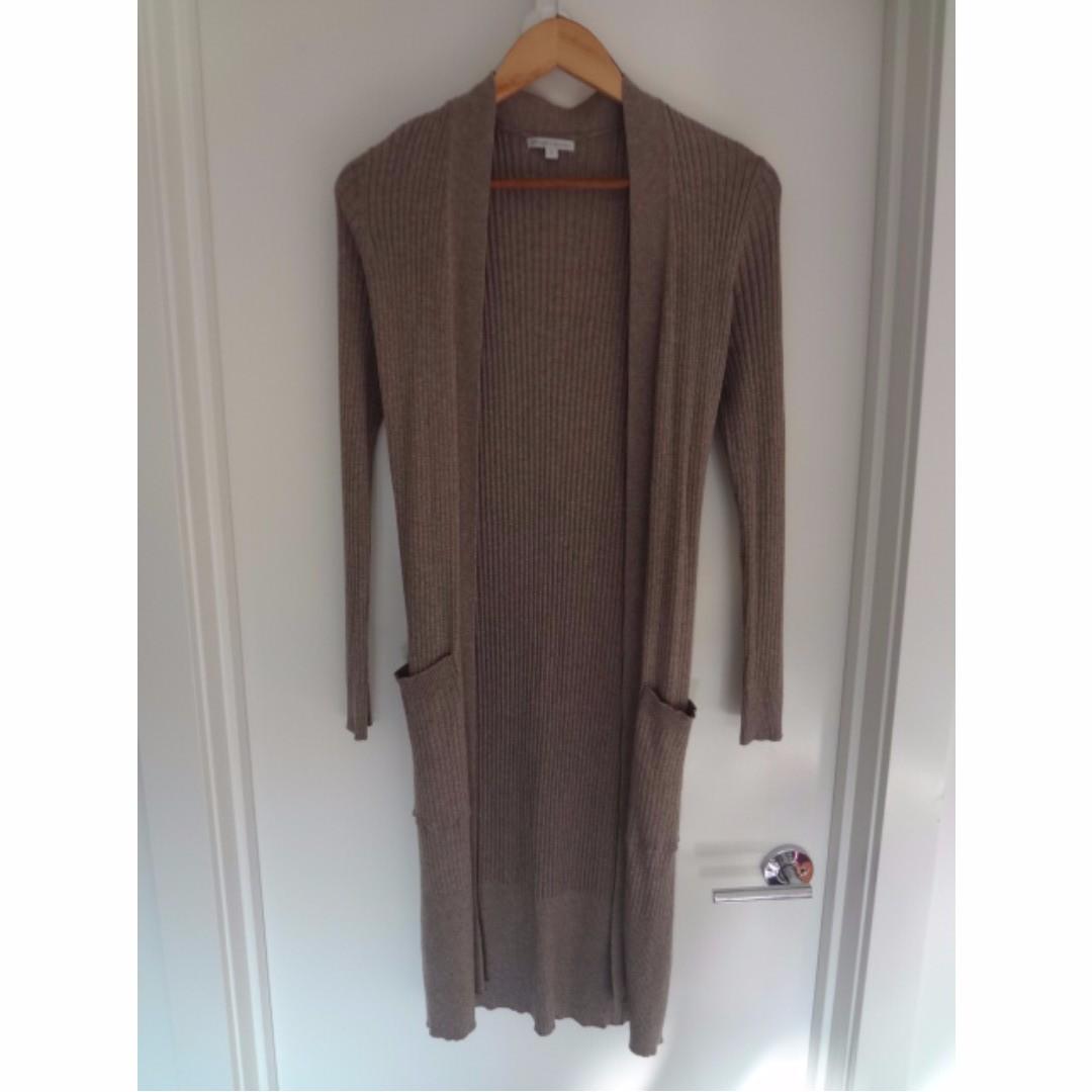 Light brown long cardigan