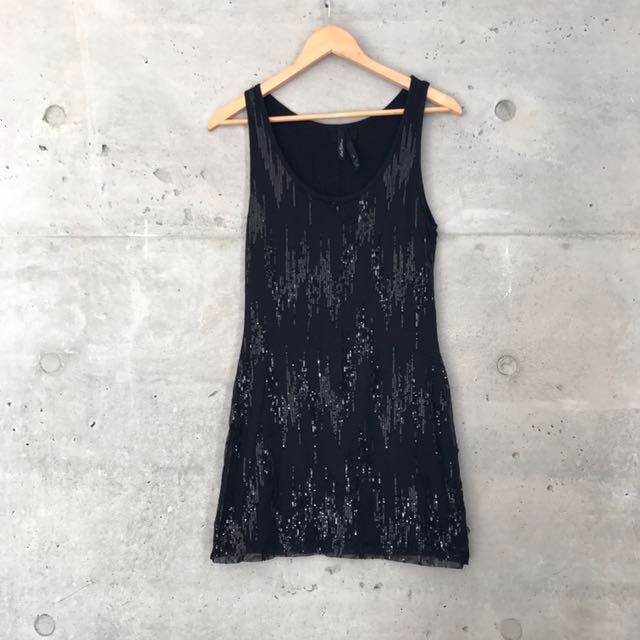 Ltd Edition Black Sequin Dress