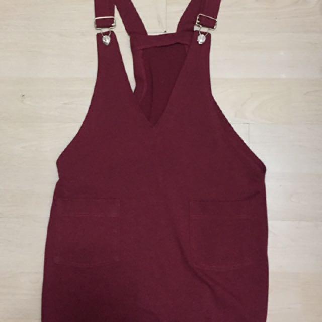 Maroon Jumper Skirt