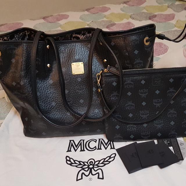 Mcm Reversible Per Bag Black Jaguar Luxury Bags Wallets On Carou