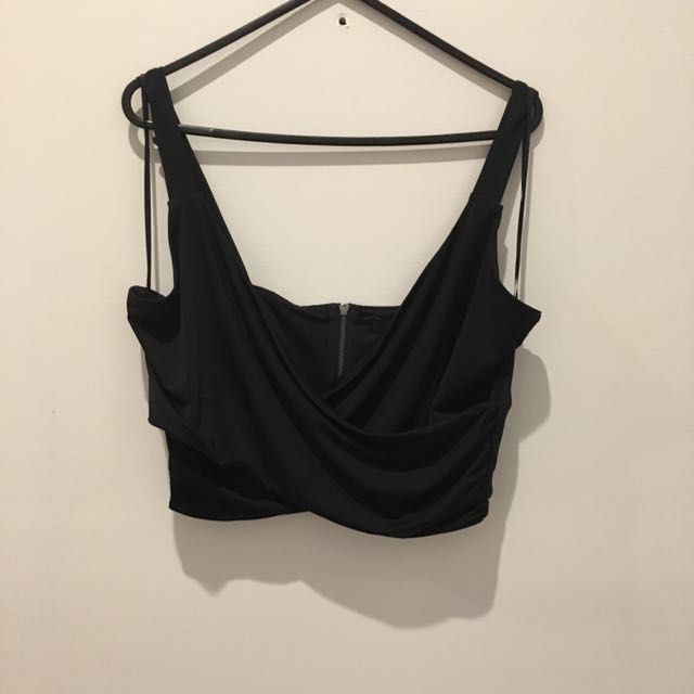 Medium French Connection Wrap Crop Top