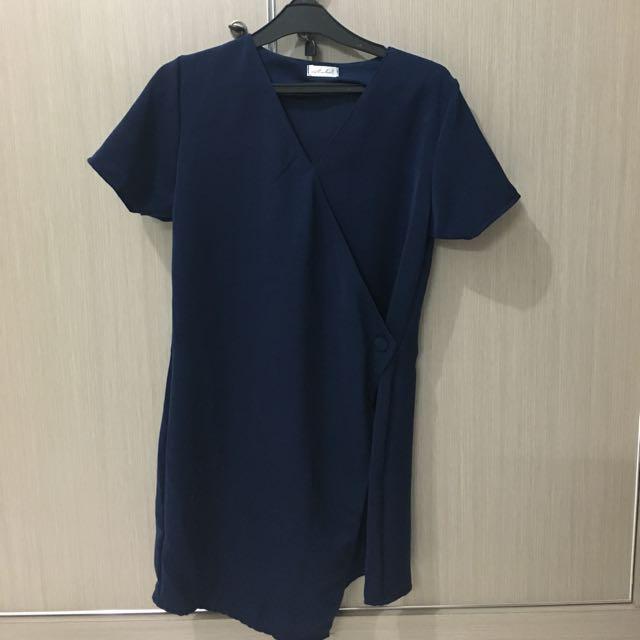 Megan Dress - Navy Blue