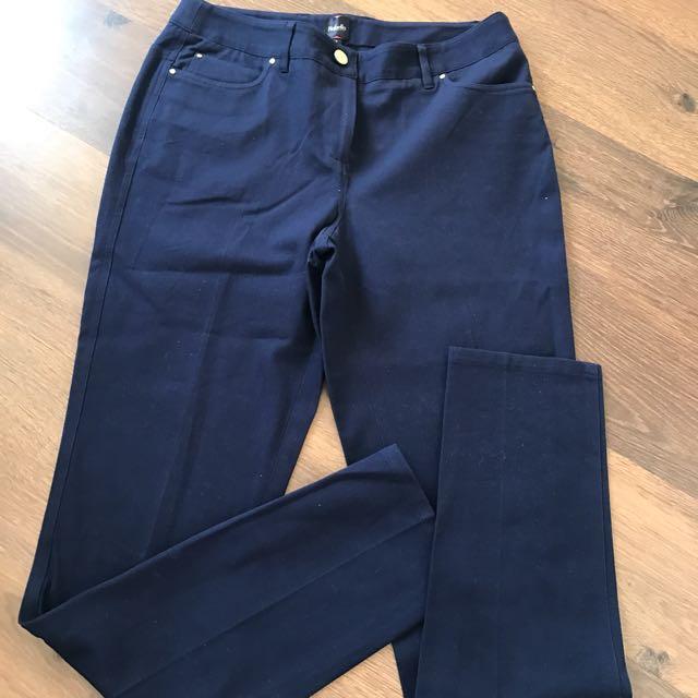 Navy Blue Rafaella Pants