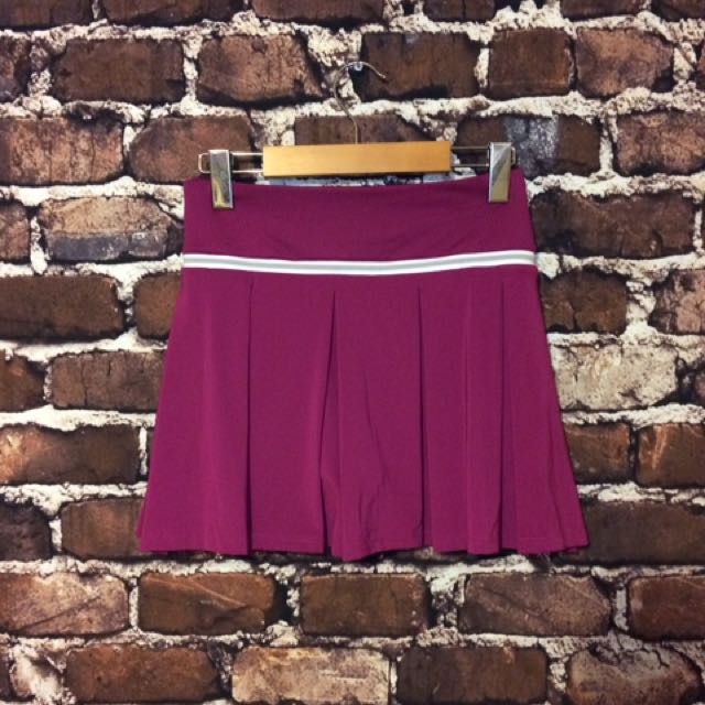 New Lacoste Womens Athletic Tennis Skirt Retail $95