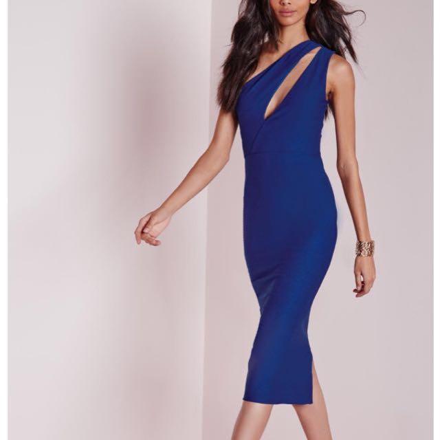Missguided One Shoulder Bodycon Midi Dress