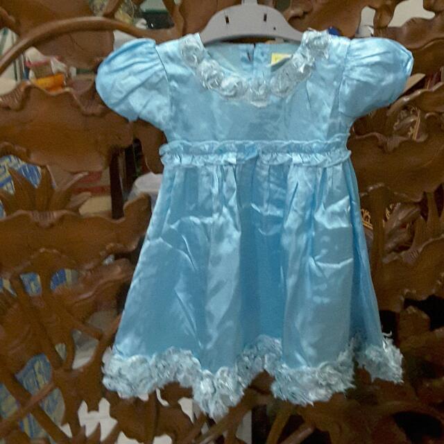 Original EYKA Blue Dress Elsa Size S (12 - 18 Months Old)