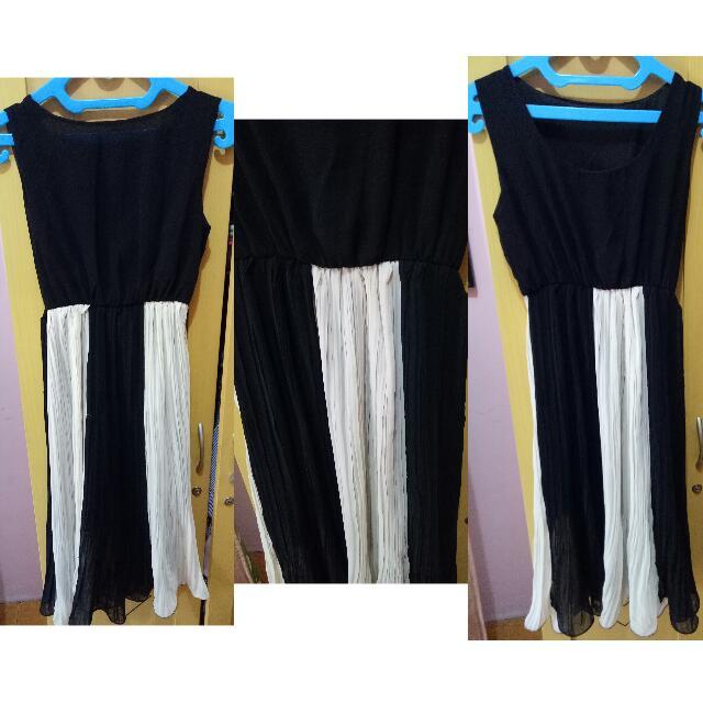 Pleated Dress Fit L