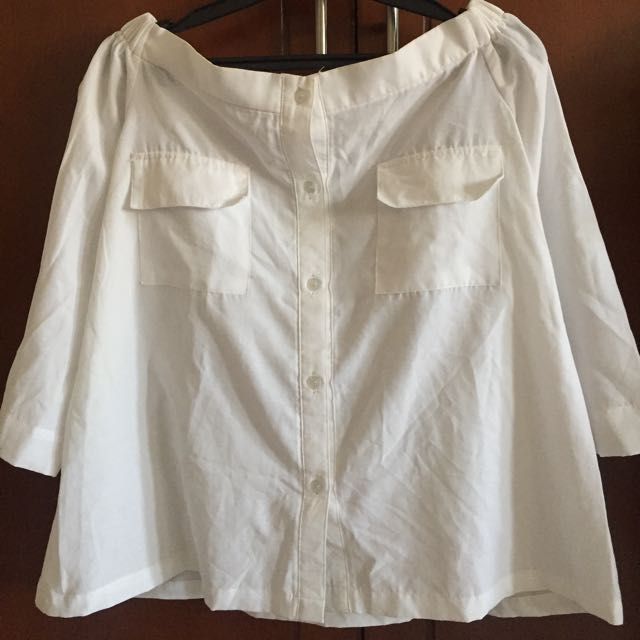 Preloved ATS The Label Judy White Top