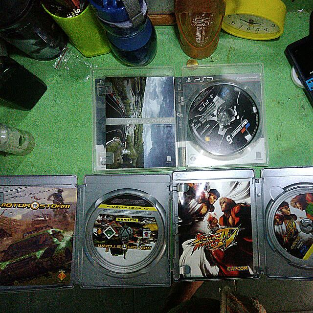 PS3 GAMES: Street Fighter IV 450 GT 5 450 Motor Storm 250