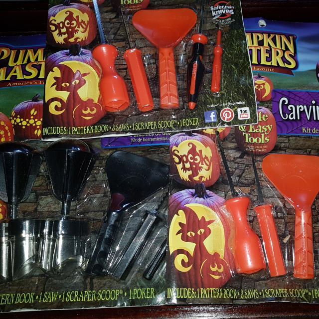 Pumpkin Decorating Toolkit 3 Sets