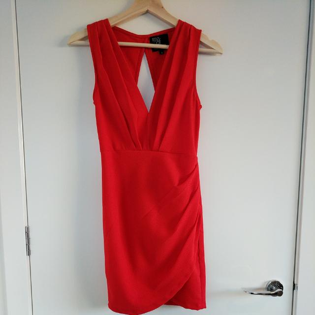 Red Mini Open-back Dress Rise Of Dawn