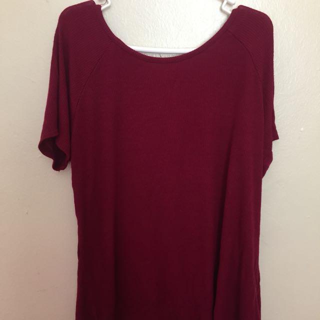 Red Shirt Short Front Long Back