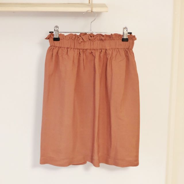 Rusted Orange Gathered Skirt