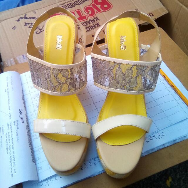 Sale !!!! Yellow Wedge