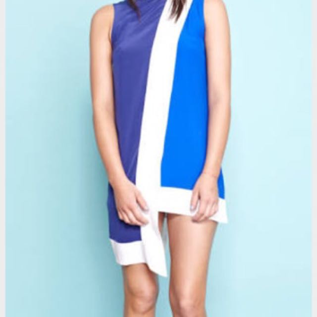 Shakuhachi Block Party Asymmetrical Dress