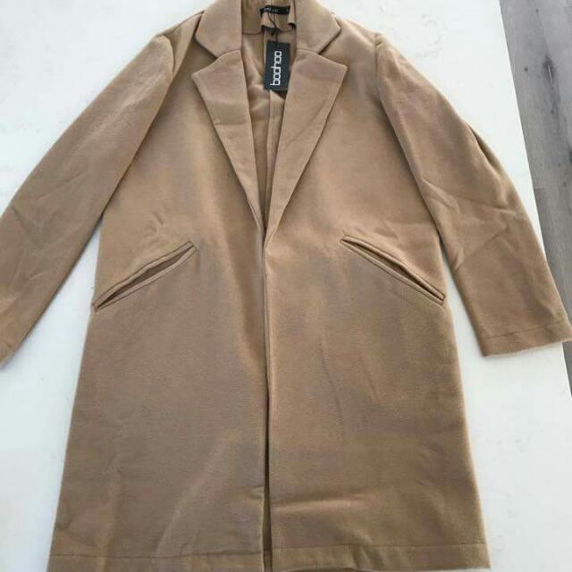 Size L Boohoo Wool Look Coat