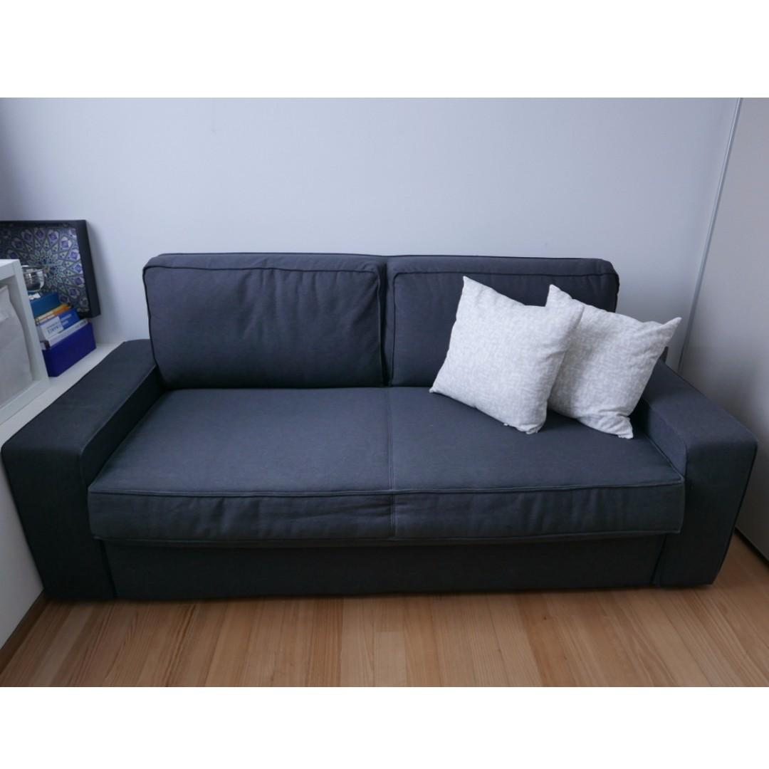 Sofa Bed Ikea Vilasund 3 Seater Dark Grey Furniture Sofas On