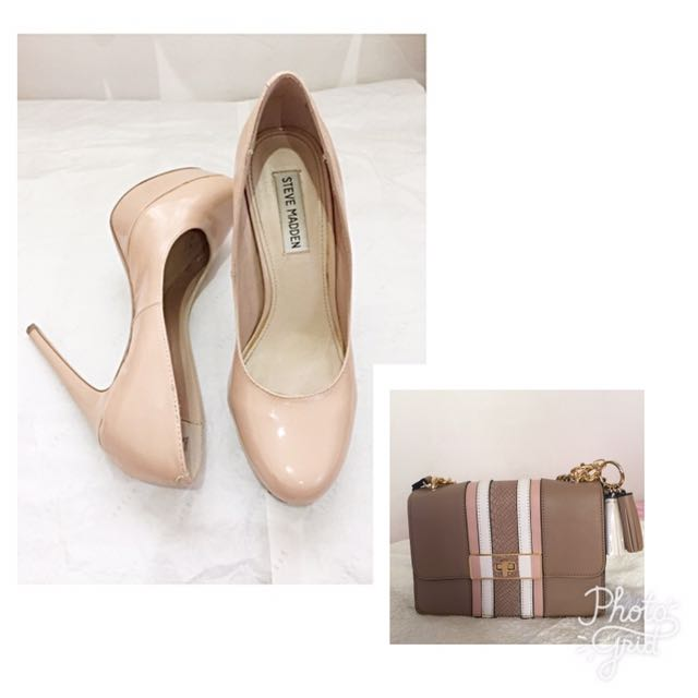 02df147ad26 Steve madden Shoes   Aldo Clutch on Carousell