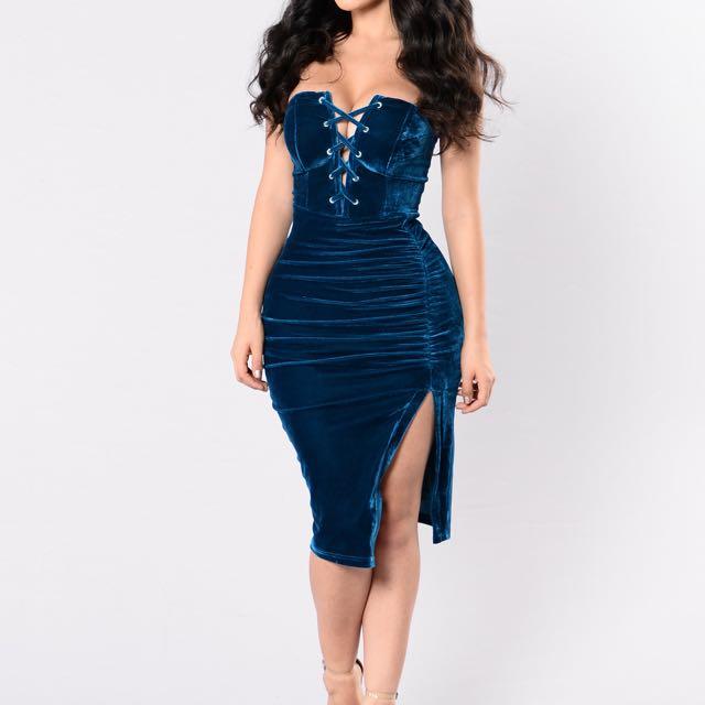 Strapless Velvet Dress