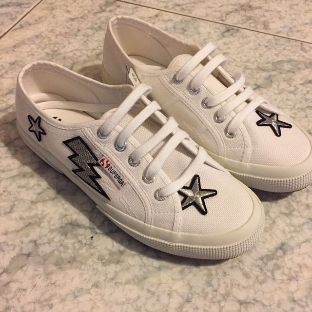 【SUPERGA 2750】貼布童趣帆布鞋