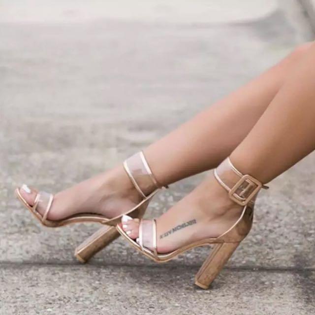Transparent Ankle High Heels