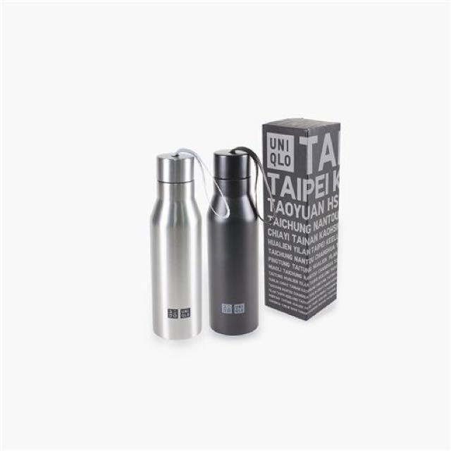 全新限量Uniqlo真空耐熱保溫瓶-黑色