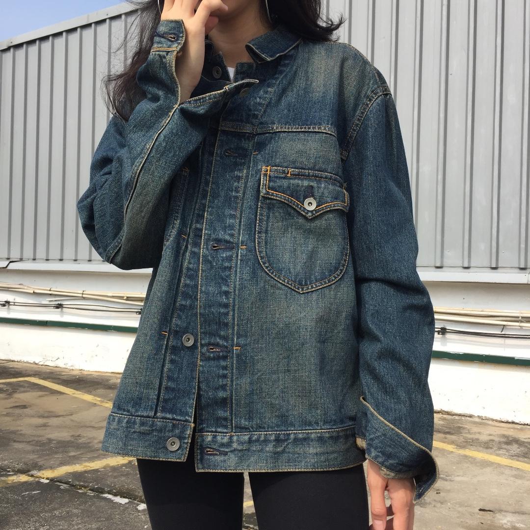 Uniqlo Pocket Denim Jacket Women S Fashion Clothes Outerwear On