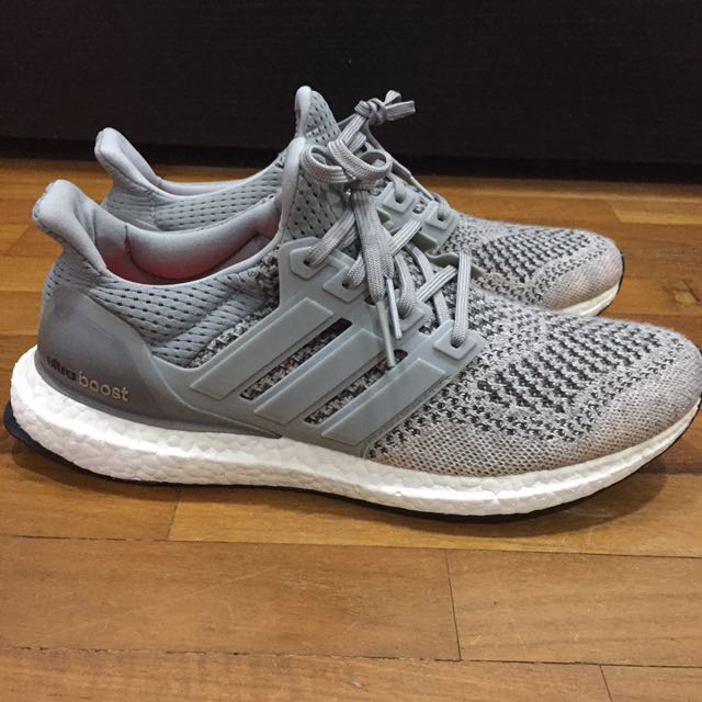 US9 Adidas Ultra Boost 1.0 Wool Grey 303b34ac6
