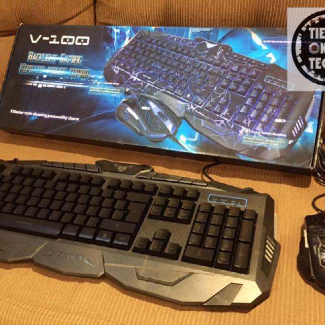 V-100 Gaming Keyboard Combo