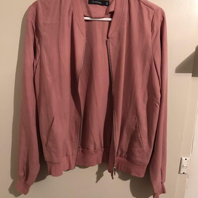 Women's Blush Bomber Jacket