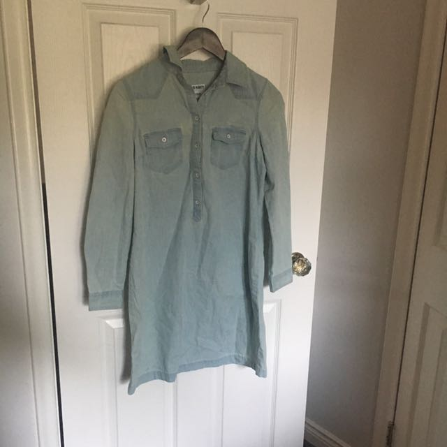X SMALL Old Navy Chambray Shirt Dress